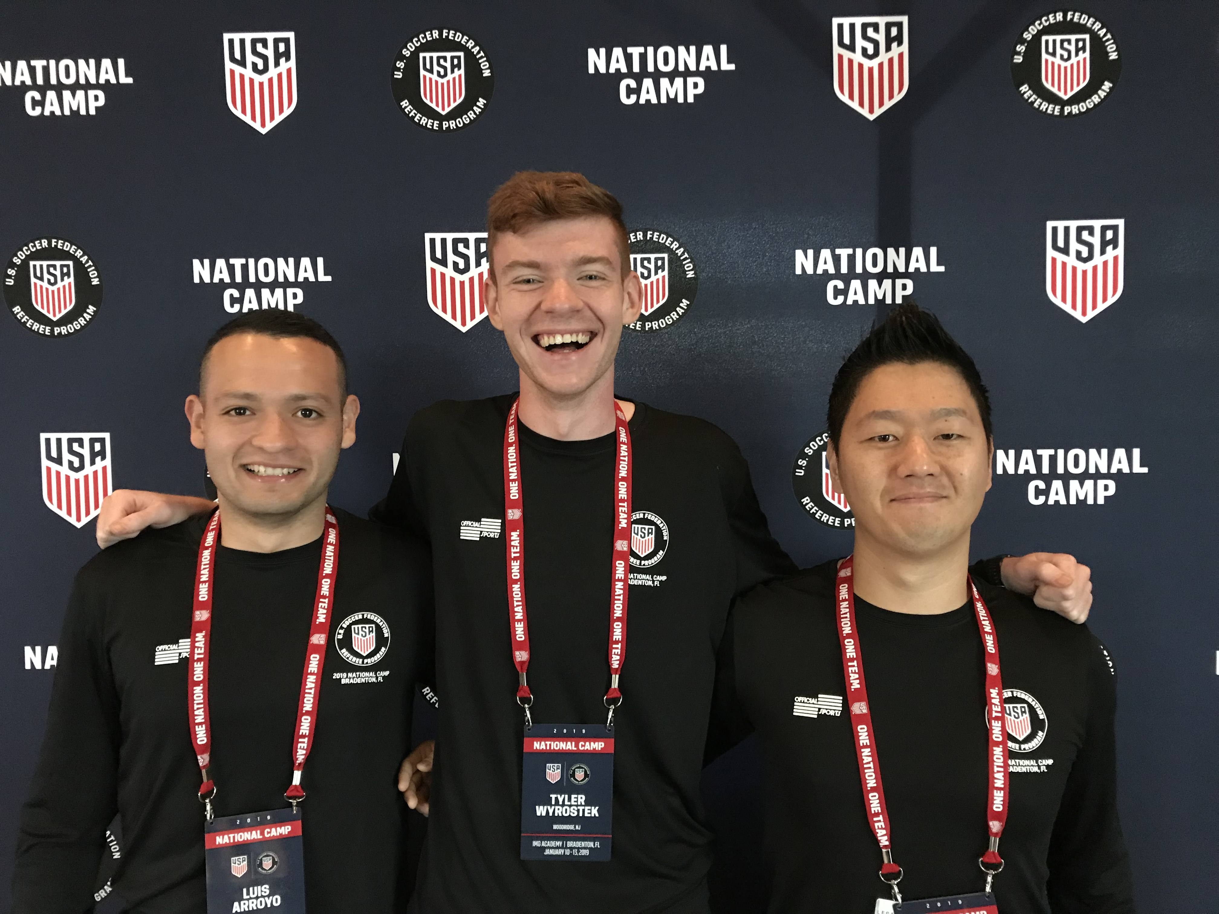 NJ's newest National Referees - Congratulations Luis Arroyo, Tyler Wyrostek and Zeno Cho